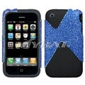 BasAcc Blue Diamante/ Black Dual Case for Apple iPhone 3G/ 3GS