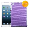 BasAcc Purple/ White Dots Pearl Diamante Case for Apple iPad Mini