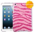 BasAcc Pink Zebra Pearl Diamante SmartSlim Case for Apple iPad Mini