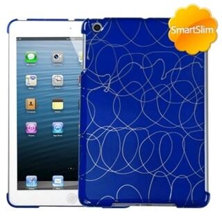 BasAcc Curved Lines Dark Blue SmartSlim Case for Apple iPad Mini