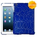 INSTEN Curved Lines Dark Blue SmartSlim Tablet Case Cover for Apple iPad Mini