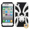 BasAcc Ivory White/ Black Hybrid Case for Apple iPhone 4/ 4S