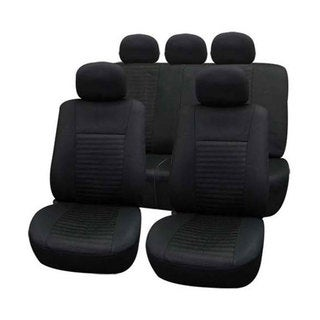 FH Group 'Trendy Elegance' Black Airbag-safe Car Seat Covers (Full Set)