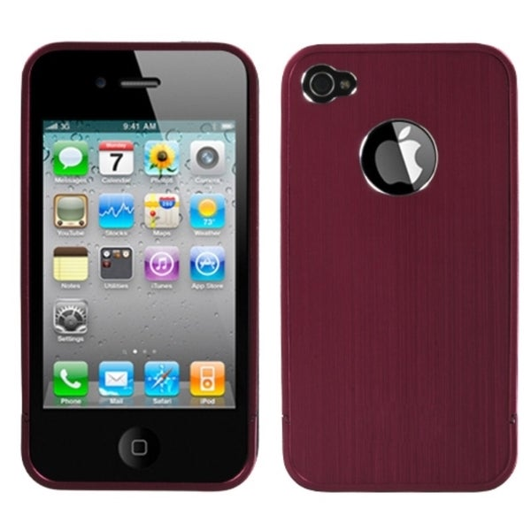 INSTEN Red/ Chrome Ironside Shield for Apple iPhone 4S/ 4