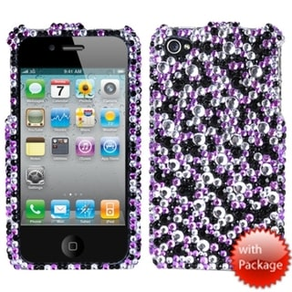 BasAcc Purple/ Silver Stardust Diamante Case for Apple iPhone 4S/ 4