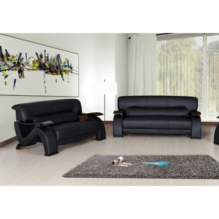 Selina Bonded Leather 2-piece Modern Set
