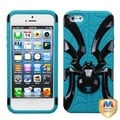 BasAcc Black/ Tropical Teal Spiderbite Hybrid Case For Apple� iPhone 5
