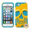 BasAcc Yellow/ Tropical Teal Skullcap Hybrid Case For Apple� iPhone 5
