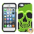 BasAcc Green/ Black Skullcap Hybrid Case For Apple iPhone 5