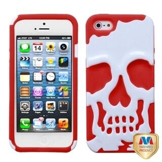 BasAcc Ivory White/ Red Skullcap Hybrid Case For Apple� iPhone 5