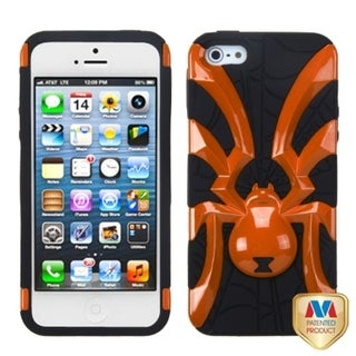 BasAcc Pearl Orange/ Black Spiderbite Hybrid Case For Apple iPhone 5