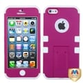 BasAcc Pink/ White Tuff Hybrid Protector Case For Apple� iPhone 5