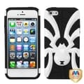BasAcc Ivory White/ Black Spiderbite Hybrid Case For Apple� iPhone 5