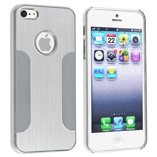 BasAcc Silver Brushed Chrome Aluminum Snap-On Case For Apple� iPhone 5