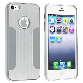 BasAcc Silver Brushed Chrome Aluminum Snap-On Case For Apple iPhone 5
