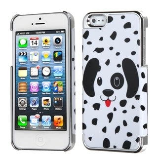BasAcc Dalmatian/ Silver Plating MyDual Back Case For Apple iPhone 5