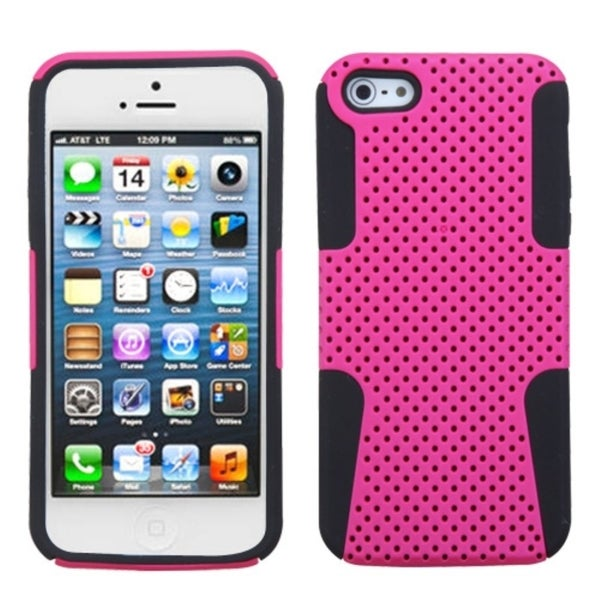 INSTEN Pink/ Black Astronoot Phone Protector Phone Case Cover for Apple iPhone 5
