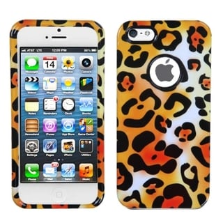 BasAcc Orange Cheetah Skin Protector Case For Apple iPhone 5