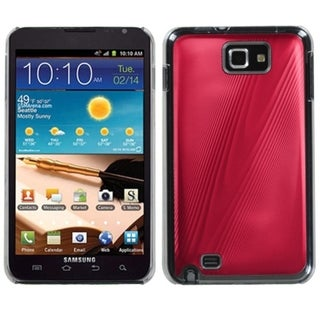 INSTEN Red Cosmo Back Protector Phone Case Cover for Samsung I717 Galaxy Note