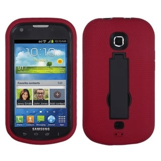 INSTEN Black/ Red Symbiosis Stand Phone Case Cover for Samsung I200 Stellar