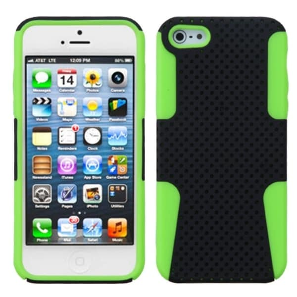 INSTEN Black/ Electric Green Astronoot Phone Case Cover for Apple iPhone 5