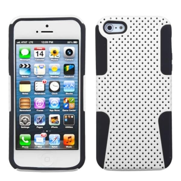 INSTEN White/ Black Astronoot Phone Protector Phone Case Cover for Apple iPhone 5
