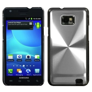 INSTEN Silver Cosmo Back Phone Case Cover for Samsung I777 Galaxy S II
