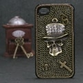 BasAcc Cowboy Skull Crystal 3D Diamante Case for Apple iPhone 4/ 4S