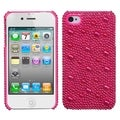BasAcc Hot Pink Pearl Diamante Case for Apple iPhone 4/ 4S