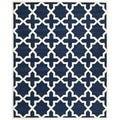 Safavieh Handmade Moroccan Dark Blue 100 Percent Wool Rug (8'9