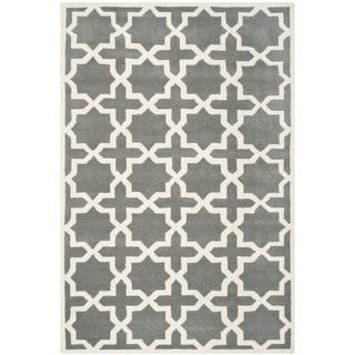 Handmade Moroccan Dark Grey Wool Contemporary Rug (8'9 x 12')