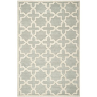 "Handmade Cotton-Backed Moroccan Gray Wool Rug (8'9"" x 12')"