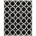 "Handmade Cotton-Backed Moroccan Black Wool Rug (8'9"" x 12')"