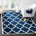 Safavieh Handmade Moroccan Chatham Dark Blue Wool Rug (8'9 x 12')