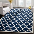"Handmade Moroccan Dark Blue Wool Area Rug (8'9"" x 12')"
