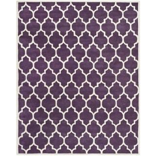 "Handmade Moroccan Purple Wool Rug (8'9"" x 12')"