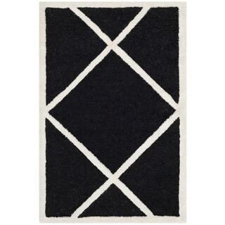 Safavieh Geometric Handmade Moroccan Cambridge Black Wool Rug (2' x 3')