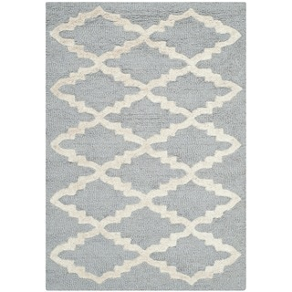 Safavieh Casual Handmade Cambridge Moroccan Silver Wool Rug (2' x 3')