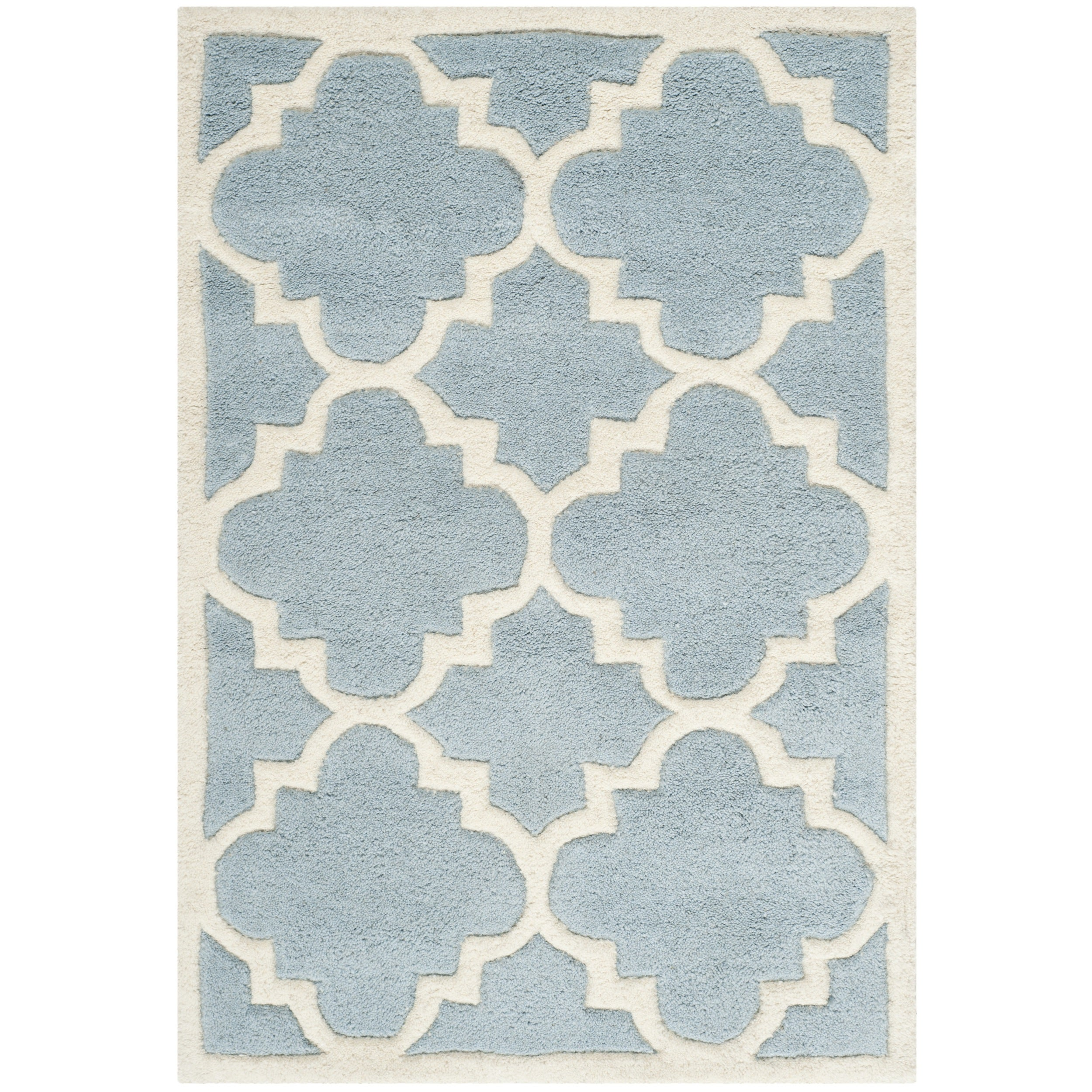Safavieh Handmade Moroccan Chatham Contemporary Blue Wool Rug (2' x 3')