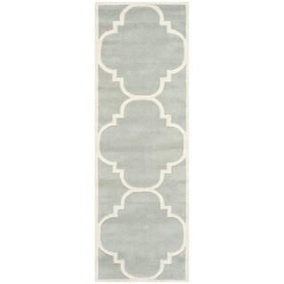 Safavieh Handmade Moroccan-pattern Chatham Gray Wool Rug (2'3 x 7')