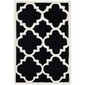Safavieh Handmade Moroccan Chatham Black Wool Rug (3' x 5')