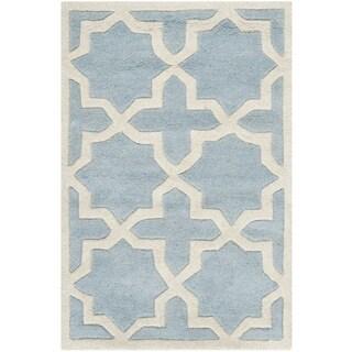 Safavieh Handmade Moroccan Blue Star-Pattern Wool Rug (3' x 5')