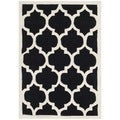 Handmade Moroccan Black Wool Rug with Canvas Backing (3' x 5')