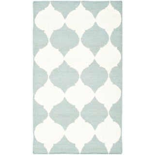 Safavieh Handwoven Moroccan Dhurrie Blue Wool Area Rug (3' x 5')