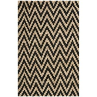 Safavieh Hand-knotted Organic Black/ Natural Wool Rug (8' x 10')
