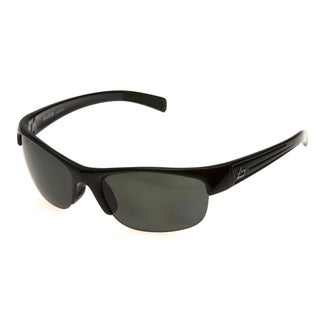Bolle 'Aero' Satin Crystal Grey Wrap Sunglasses