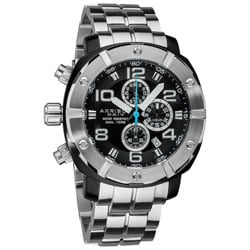 Akribos XXIV Silver Men's Chronograph Divers Stainless Steel Bracelet Watch