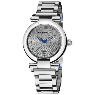 Akribos XXIV Women's Swiss Quartz Stainless Steel Diamond Watch
