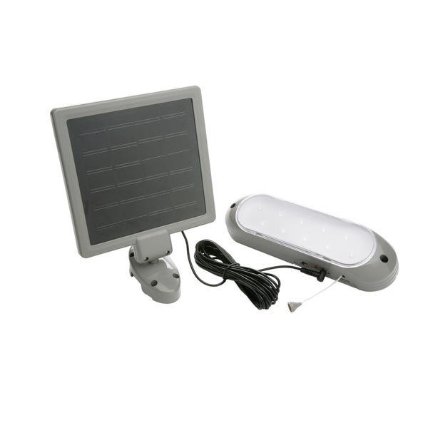 solar powered 8 led shed light. Black Bedroom Furniture Sets. Home Design Ideas