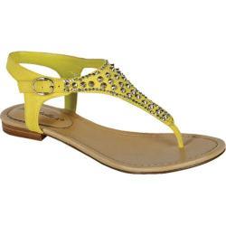 Women's Beston Sunny-03 Yellow Faux Leather